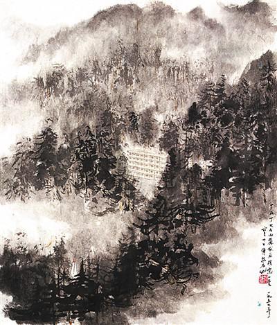 中国山水画与英国风景画的空间对照